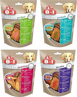 8in1 Kombi Fillets pro digest-breath-skin & coat-active 4x80gr Gr. S €4,03/100gr