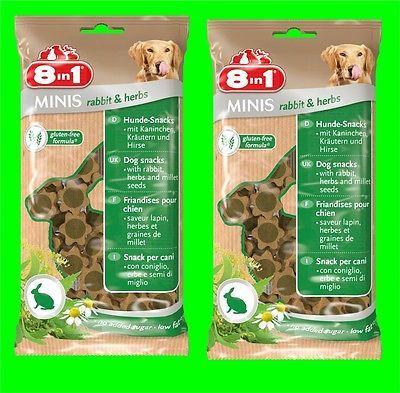 8in1 Minis Rabbit & Herbs Hunde Snack 2 Tüten a100 gr Hundefutter mit Kanninchen