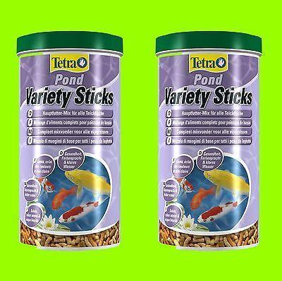 Tetra Pond Variety 2x1 Liter Hauptfutter Teichfische Mischung aus 3 Sorten