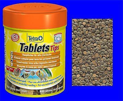 Tetra Tablets Tips 75 Tab. Futtertabletten Fischfutter Hafttabletten Hauptfutter
