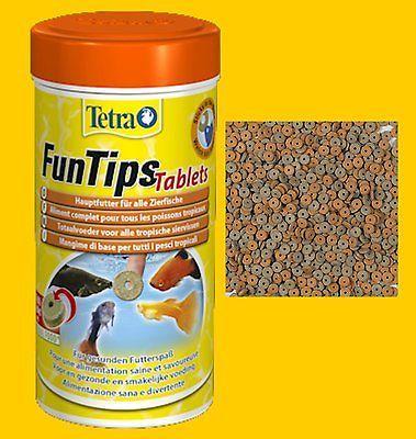 Tetra FunTips 75 Tabs Futtertabletten Fischfutter Hafttabletten Hauptfutter