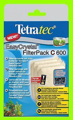 EasyCrystal 600 C FilterPack 3 Filterkartuschen mit Aktivkohle für Tetra Innenf.