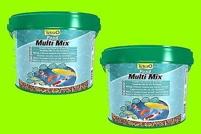 Tetra Pond Multi Mix 2x10 Liter Futtermix für alle Teichfische Fischfutter