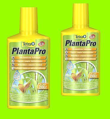 Tetra PlantaPro 2x250ml Wochendünger Volldünger für Aquarienpflanzen für 4.000 L