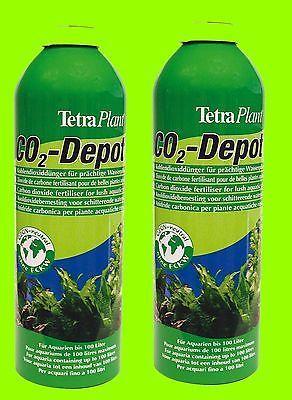 Tetra Co2 Depot 2 Stück Ersatzflaschen f Co2 Optimat Kohlendioxiddünger Sparset