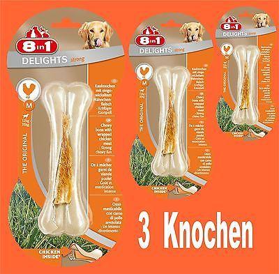8in1 Delights Strong Kauknochen M 3 St , für stark kauende Hunde Hundefutter