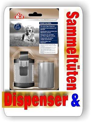8in1 Dispenser und 30 Sammeltüten für Hundekot Poop Patrol