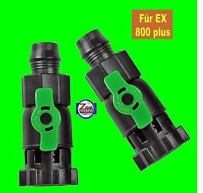 Durchflussventile Absperrhähne für Tetra Aussenfilter EX 800 plus Tetratec 2 St.