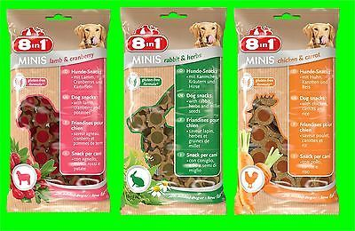 8in1 Minis Kombiset Lamp-Cranberry, Rabitt-Herbs, Chicken-Carrot 3 x 100 gr