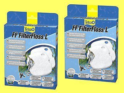 2 Stück FF Filterfloss L für Tetra EX plus Außenfilter 1200 Feinfiltervlies
