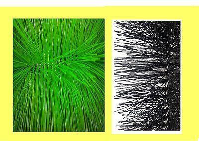 Filterbürsten Set 5 x fein und 5 x grob 50 cm lang Ø15 cm Koiteich Teichfilter