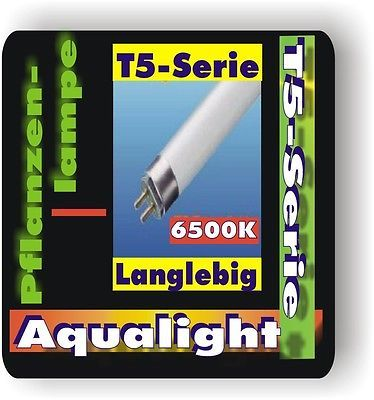 Aqualight T5 Leuchtstoffröhre 2x f Pflanzen 6500K 6Watt