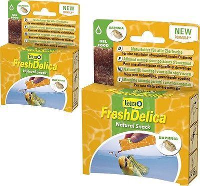Tetra FreshDelica Daphnien 2 x 48 gr. Wasserflöhe in Gelee, 32 Tütchen a 3 gr.
