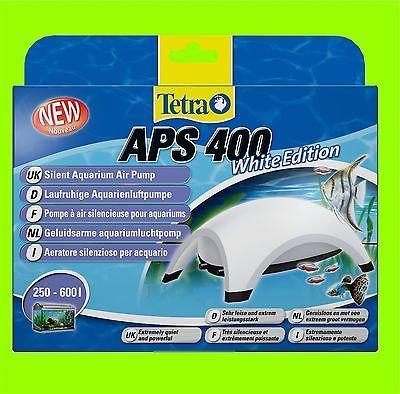Tetra APS 400 Aquarienluftpumpe white Edition Luftpumpe für 250-600l Aquarium