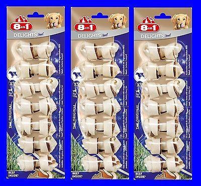 8in1 Beef Delights Kauknochen XS 3x7 St mit Rindfleisch, der Kausnack für Hunde