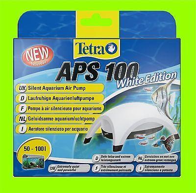 Tetra APS 100 Aquarienluftpumpe White Edition Luftpumpe für 50-100l Aquarium