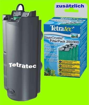 Tetra EasyCrystal FilterBox 300 zusätzl. 1 x Filterpack 250/300 für Innenfilter
