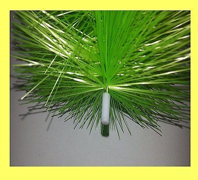 5 Stück Filterbürste grün fein 70 cm lang Teichbürste Koiteich Teichfilter