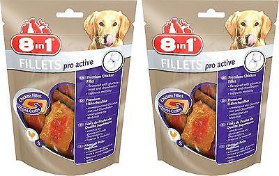 8in1 pro active Fillets 2x80 gr. Größe S für alle Hunde €4,94/100gr.