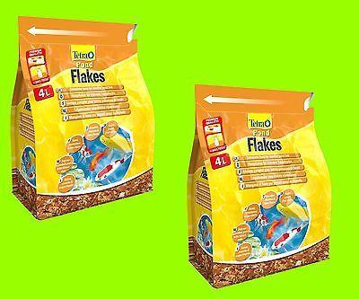 Tetra Pond Flakes 2x4 Liter Hauptfutter in Flockenform für kleinere Teichfische