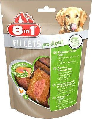 8in1 pro digest Fillets 80 gr. Größe S für alle Hunde €5,63/100gr.gute Verdauung