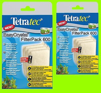 EasyCrystal 600 FilterPack 2 Packs a 3 Filterkartuschen f Tetratec Filterbox