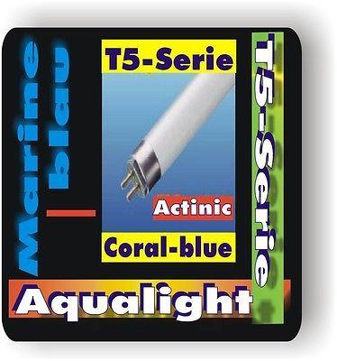 Aqualight Aquarium T5 2Stück Neonröhre Coral Blue 4 W.