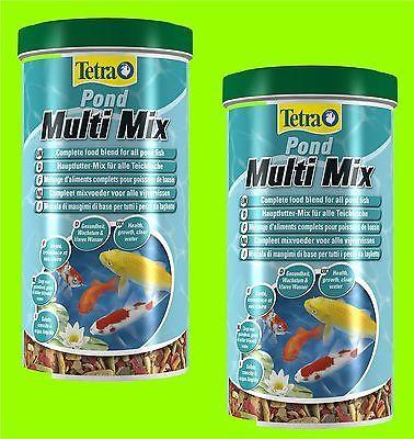 Tetra Pond Multi Mix 2x1 Liter Futtermix für alle Teichfische Fischfutter