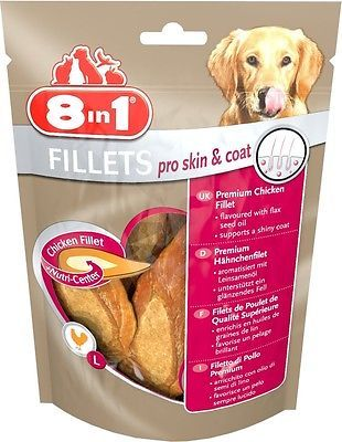 8in1 pro skin & coat Fillets 80 gr. Größe S für alle Hunde €5,63/100gr Fellglanz