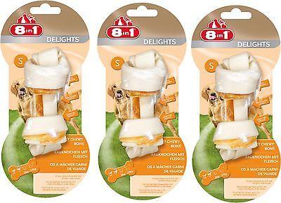8in1 Delights Größe S 3 St Kauknochen mit Hähnchenfleisch -der Kauspaß für Hunde