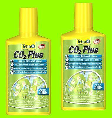 Tetra co2 plus 2x250ml co2 f Wasserpflanzen flüssiger Kohlenstoff-Dünger f 4000L