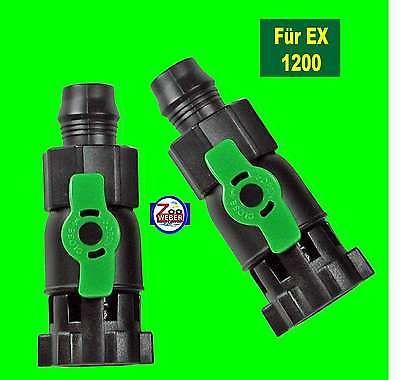 Durchflussventile Absperrhähne für Tetra Aussenfilter EX 1200 Tetratec 2 Stück