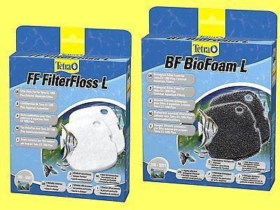 Kombiset Filterschwamm BF und Vlies FF für Tetra EX Außenfilter1200/1200 plus