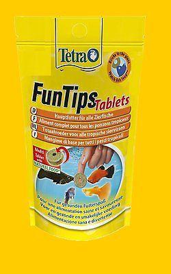 Tetra FunTips 20 Tabs Futtertabletten Fischfutter Hafttabletten Hauptfutter