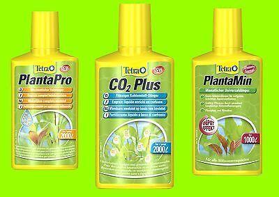 Tetra PlantaPro u. Tetra Co2 plus u. PlantaMin je 250ml Düngeset mit Kohlenstoff