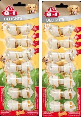 8in1 Delights XS 2 x 7 St Kauknochen mit Hähnchenfleisch - der Kauspaß für Hunde