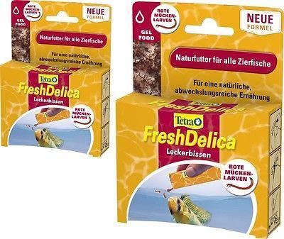 Tetra FreshDelica Bloodworms 2x 48gr rote Mückenlarven in Gelee, die Abwechslung