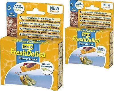 Tetra FreshDelica Shrimps 2 x 48 gr. Brine Shrimp in Gelee, auch für Wirbellose