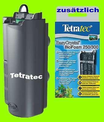 Tetra EasyCrystal FilterBox 250 zusätzl. 1 x Biofoam für Aquarien 15-40L.