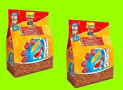 Tetra Pond Koi Sticks 2x4 Liter Hauptfutter, schwimmfähige Futtersticks für Koi