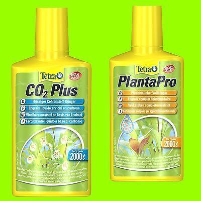 Tetra PlantaPro u. Tetra Co2 plus je 250ml Düngeset mit flüssigem Kohlenstoff